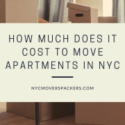 How much does it cost to move apartments in NYC