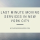 Last Minute Moving Services in New York City