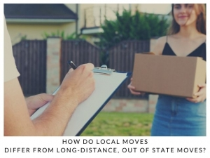 How do Local Moves differ from Long-Distance, Out of State Moves?